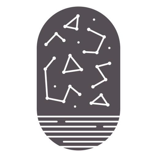 Stars constellation cut out