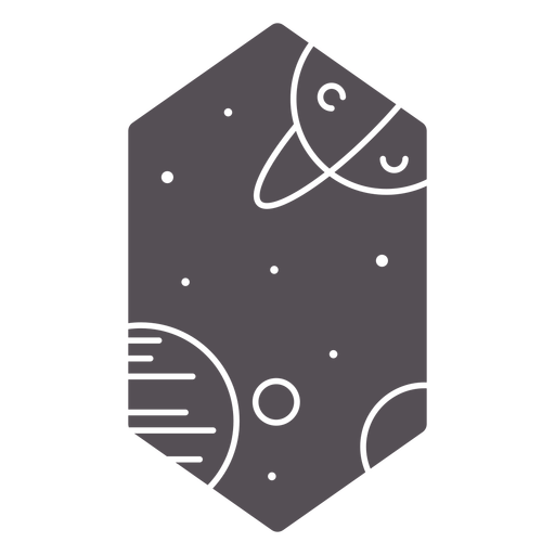 Planets galaxy cut out