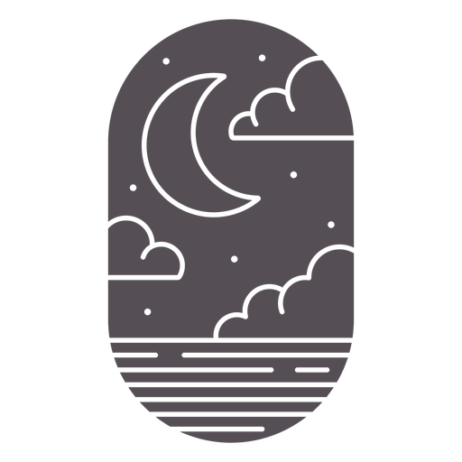 Cloudy night sky cut out