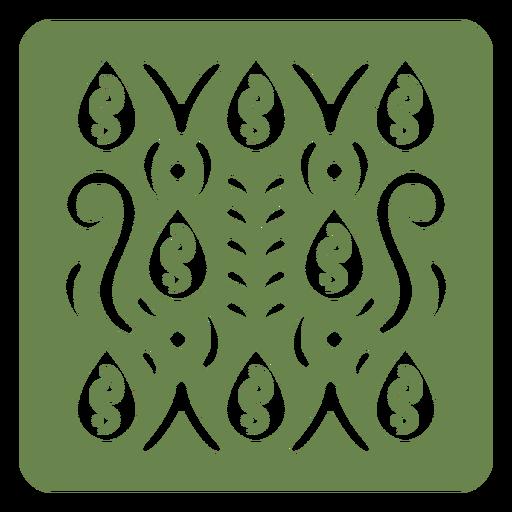 Organic green pattern cut out