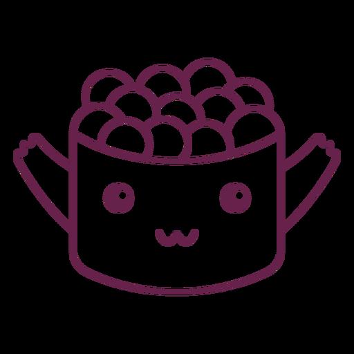 Kawaii sushi roll stroke
