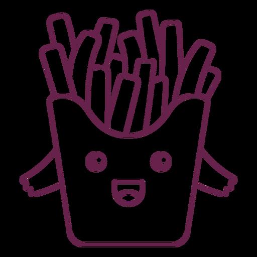 Kawaii french fries stroke