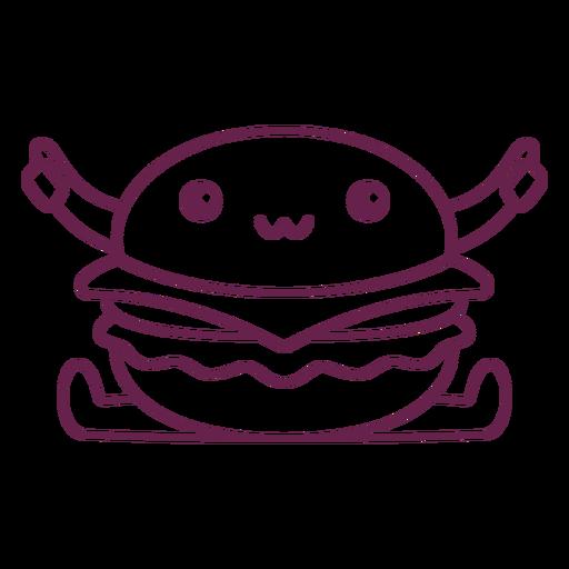 Kawaii burger stroke