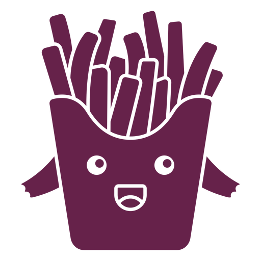 Kawaii french fries cut out