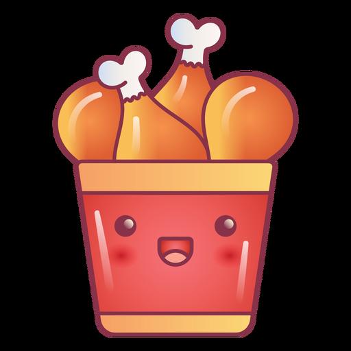 Happy fried chicken bucket kawaii