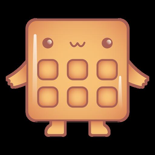 Happy waffle kawaii