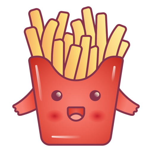 Happy french fries kawaii