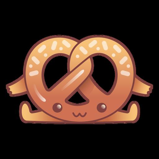 Happy pretzel kawaii