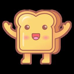 Happy toast kawaii