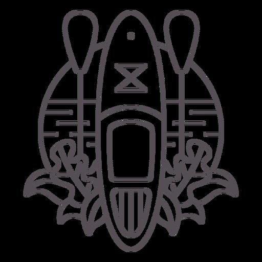 Paddleboarding-Mono-Line-Stroke - 0