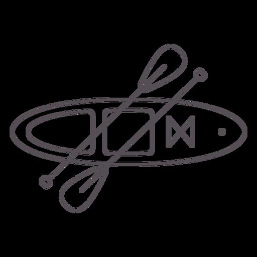 Paddleboarding-Mono-Line-Stroke - 2