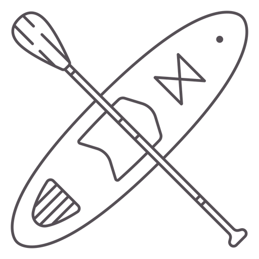 Paddleboard and paddle crossed stroke