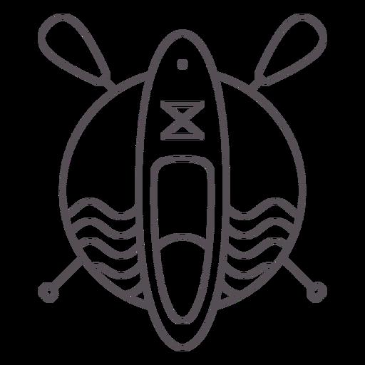 Paddleboard sea and paddles badge