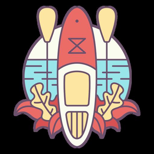 Paddleboarding-Mono-Line-Vinilo-Color - 0