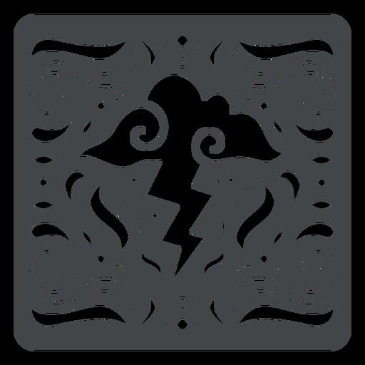 Storm cloud lightning papercut