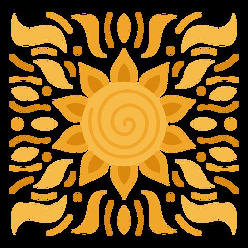 Piso de sol ornamental