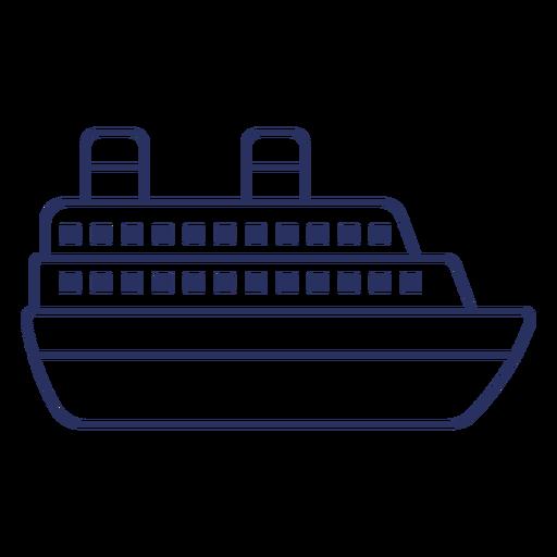 Cruise ship basic design filled stroke