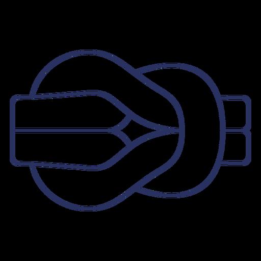 Simple sailing knot element