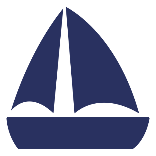Simple sailboat cut out element