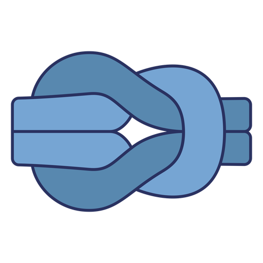 Simple sailing knot color stroke element