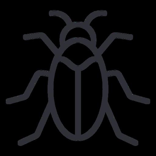 Simple beetle from top geometric stroke