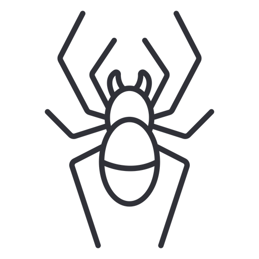 Spider from top geometric stroke