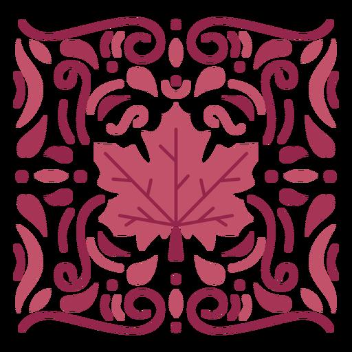Ornamental leaf monochromatic