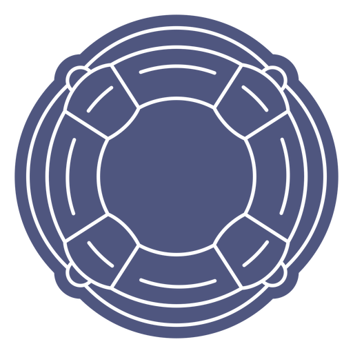 Normal rounded lifesaver cut out