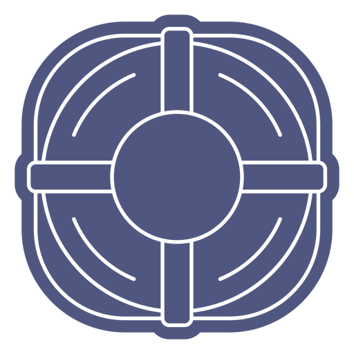 Simple rounded lifesaver cut out