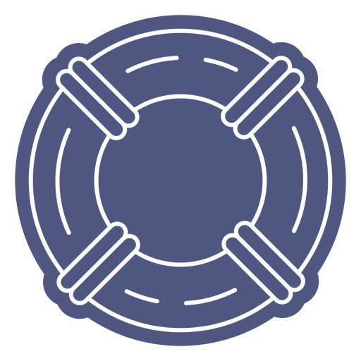 Rounded simple lifesaver cut out