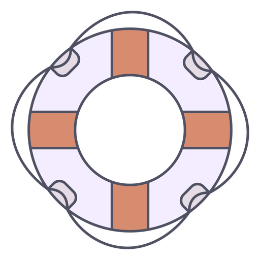Simple lifesaver with thin rope color stroke