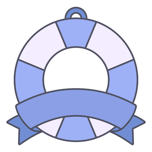 Lifesaver with ribbon color stroke badge