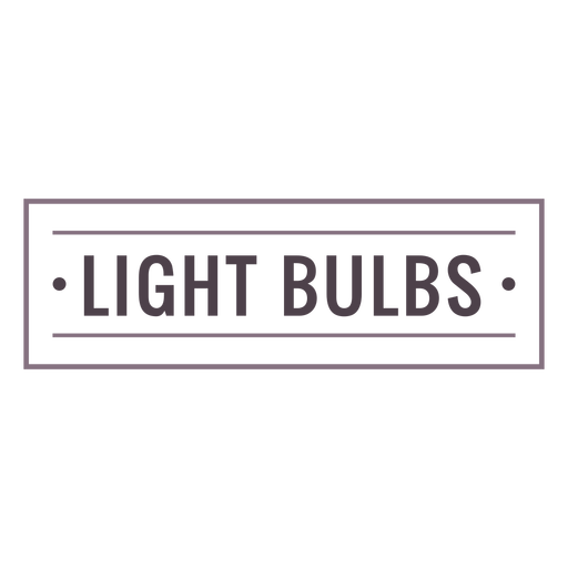 Light bulbs label stroke
