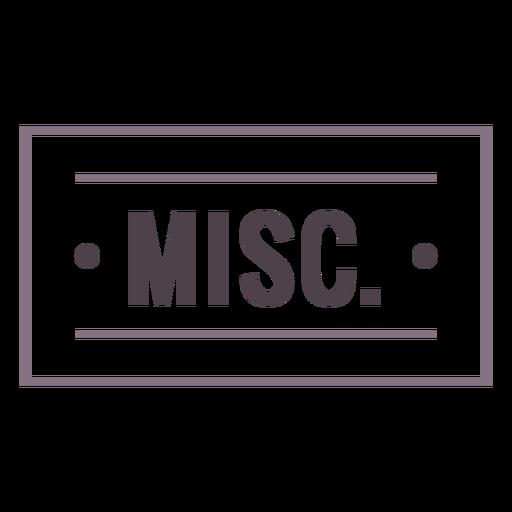 Misc label stroke