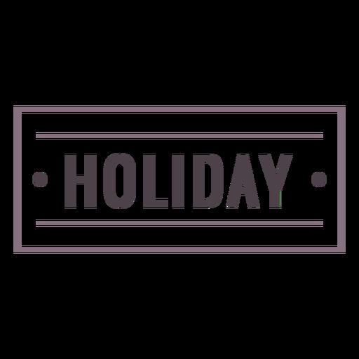 Holiday label stroke
