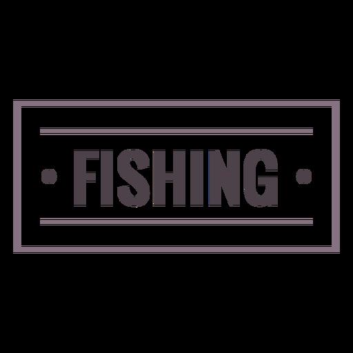 Fishing label stroke