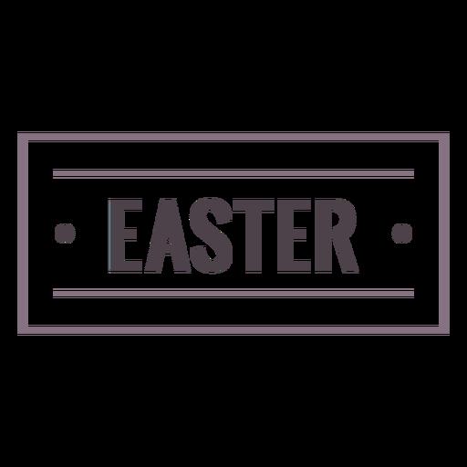Easter label stroke