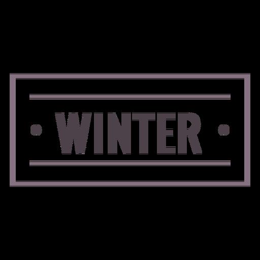 Winter label stroke