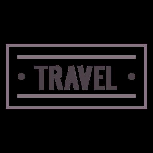Travel label stroke