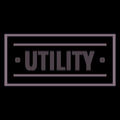 Utility label stroke