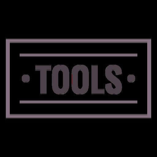 Tools label stroke
