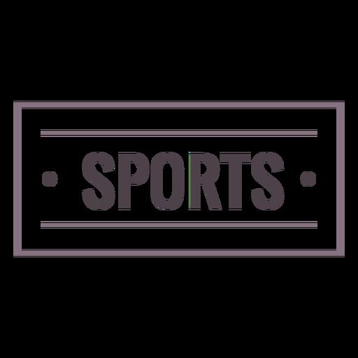 Sports label stroke