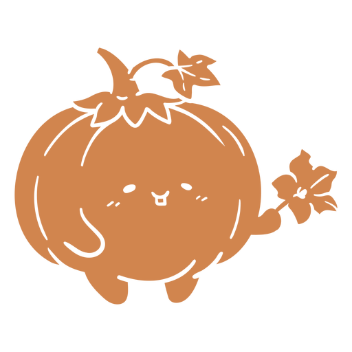 Cute pumpkin cut out