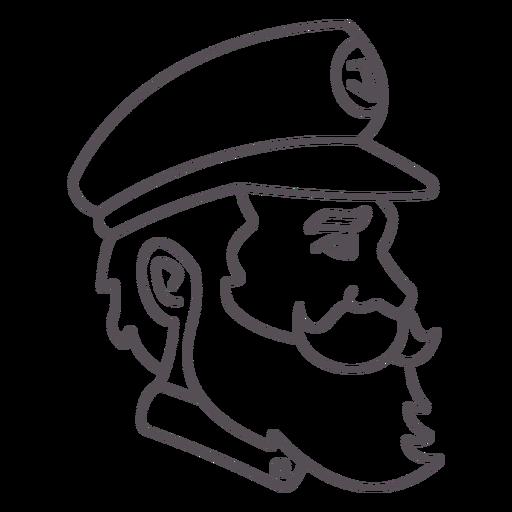 Náutico-Capitán-Gráfico-Icono-Trazo - 1