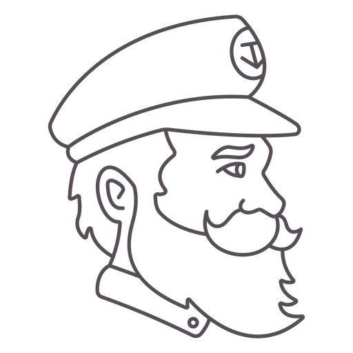 Ship's captain profile stroke