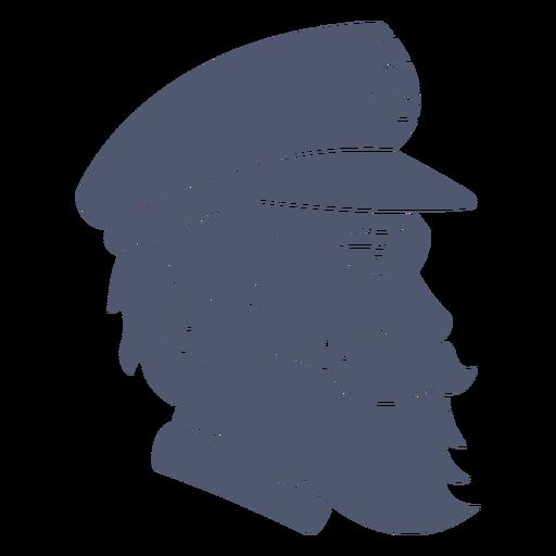Ship's captain profile cut out
