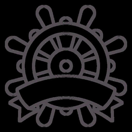Ship rudder label stroke