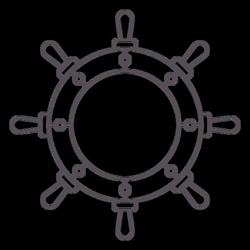 Modern ship rudder label stroke