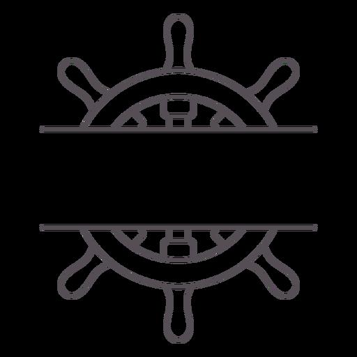 Ship's rudder label stroke