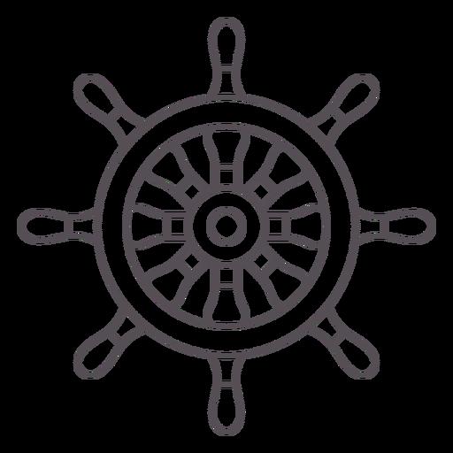 Ship rudder stroke